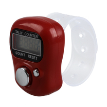 CNIM Hot Mini LCD Electronic Digital Display Finger Hand Tally Counter Counting Red