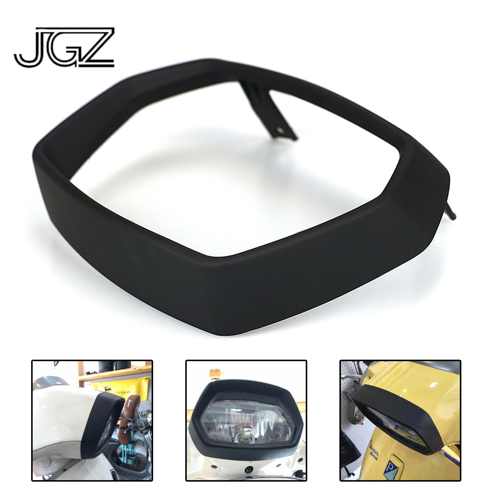 Carbon Fiber Headlight Bezel Trim Guard Cover Protector For VESPA 150 Sprint ABS