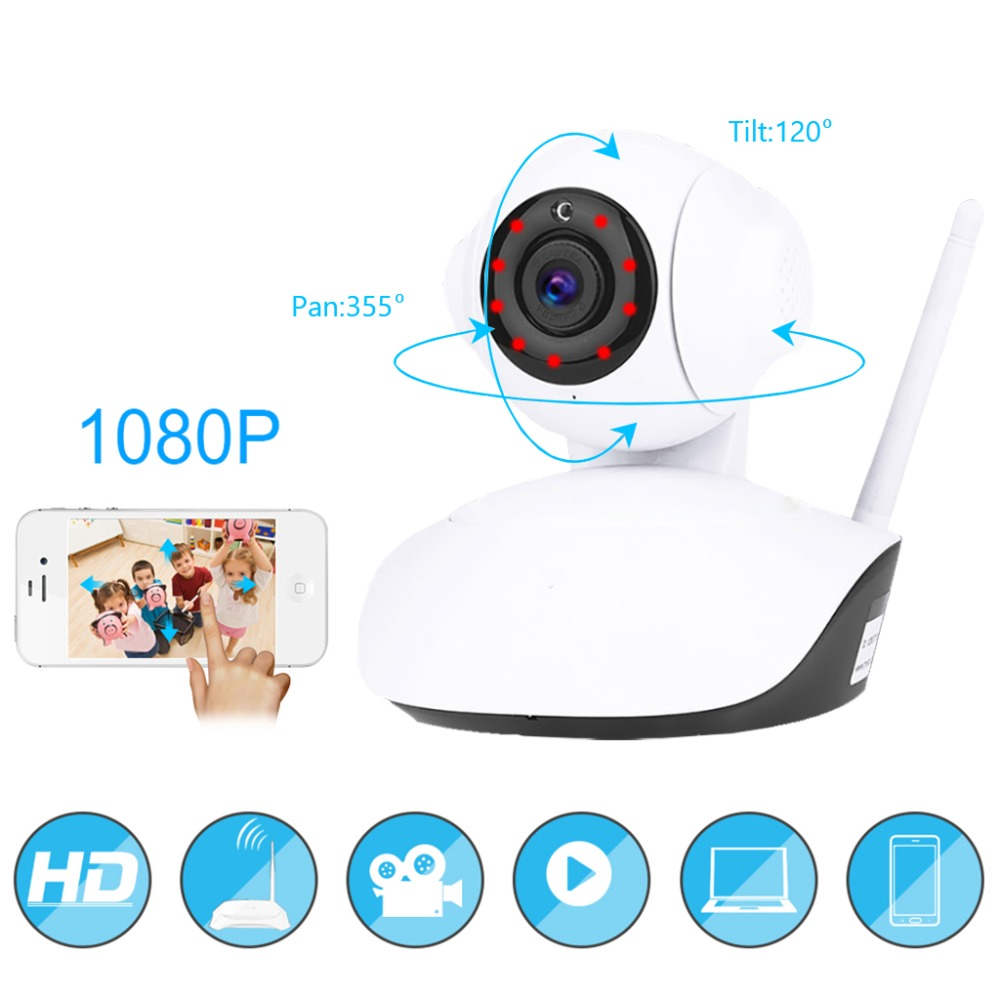 1080P IP Camera Wireless Home Security IP Camera Surveillance Camera Wifi Night Vision CCTV Camera Baby Monitor 1920x1080<br>