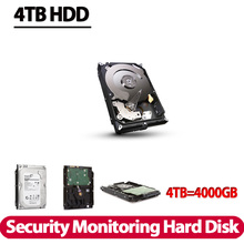"Free Shipping New 4000gb 3.5"" inch Hard disk 4TB 7200rpm 128MB SATA Internal HDD for Desktop DVR recorder CCTV system(China)"