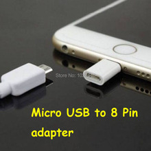 New Android Micro USB Cable to 8 Pin Adapter 8pin Converter Charger Charging Sync Data For Apple iPhone 5 5C 5S SE 6 6S 7 Plus