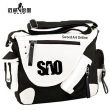 New fashion Kirigaya Kazuto SAO Anime Student Shoulder Bag women men bag Sword Art Online Cosplay Bag Travel Laptop Bag
