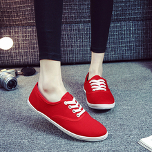 Buy Casual Canvas Women Vulcanize Shoes Comfortable Ladies Leisure sneakers Summer Women Flat Shoes Lace-up Female Shoes HBT736 for $10.90 in AliExpress store