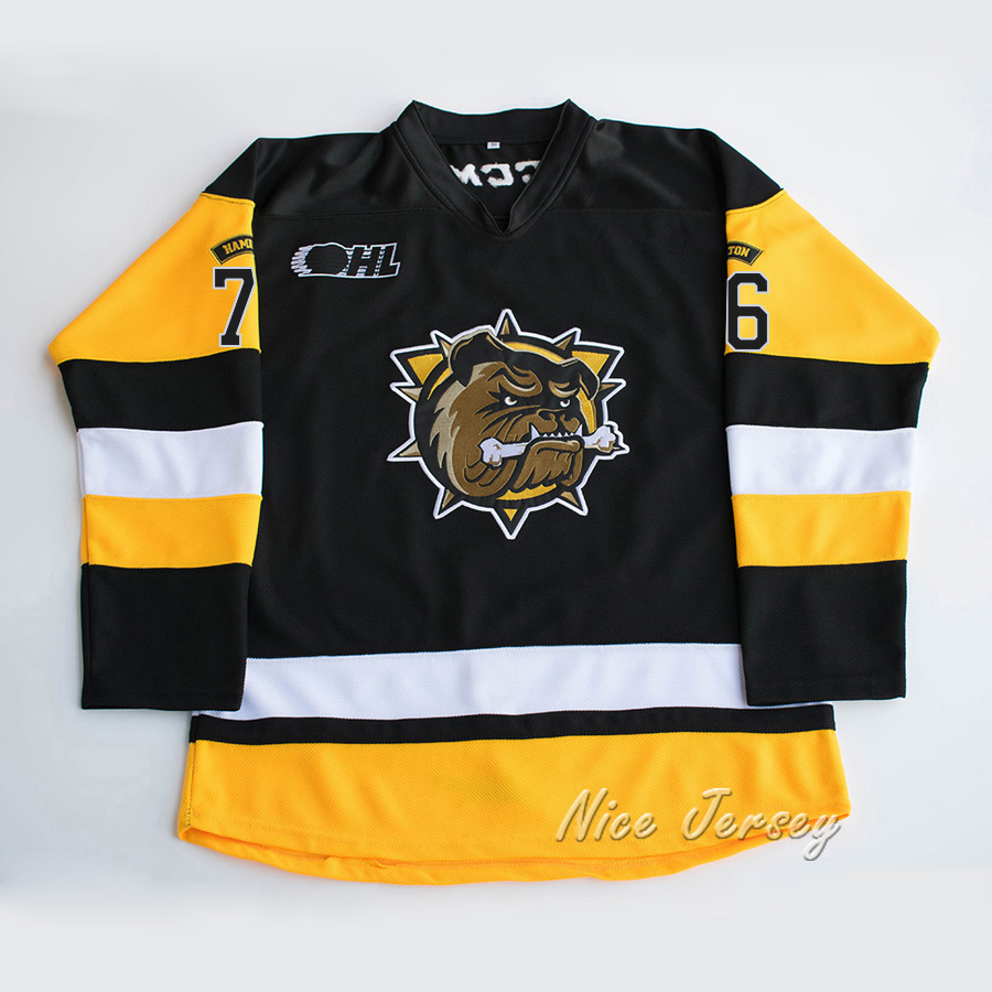 Hamilton Bulldogs #76 pk subban Stitched Hockey Jersey(China)