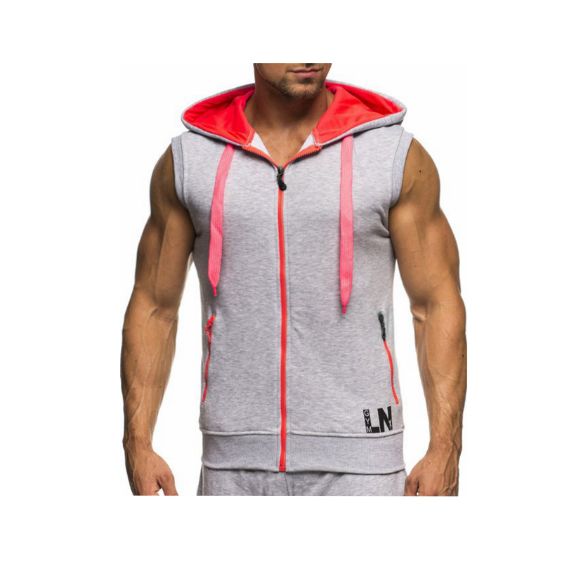 Male Bodybuilding Hoodies Fitness Clothes Hoody Cotton Hoodie Men Sweatshirts Men's Sleeveless Tank Tops Casual Vest 15