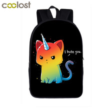 Cartoon Unicorn Backpack School Little Pony Children School Bags for Girls Boys Dab Panda Horse Toddler Backpack Kids Book Bag(China)