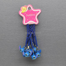 10X Lilo & Stitch Cell Phone Strap JINGLE BELLS Dangle Charms Cute Gifts 9cm