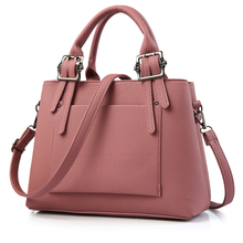 New Arrival 2017 Women Candy Colors Fashion Handbags Pu Leather Shoulder Lady Messenger Bags  Big Leisure Handbag for Women