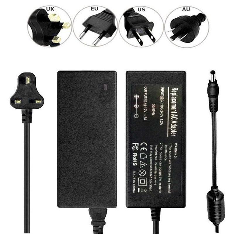 Input AC 100-240V 50//60Hz Output DC 12V 4A Power Adapter Black DT