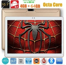 10 inch Tablet PC Octa Core 4GB RAM 32GB/64GB ROM Dual SIM Cards Android 5.1 GPS 3G WCDMA phablet 9 10 10.1 +Gifts