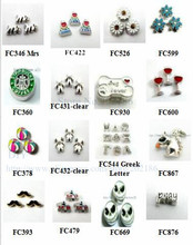 Multiples options! 10pcs wholesale mix color charming -7 alloy charms  floating  charms for float memory living glass lockets