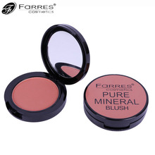 FaRRES New Professional Face Blush Palette Mineral Waterproof Powder Pigment Pink Face Contouring Bronzer Blush Palette(China)