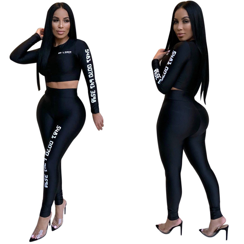 12 European and American sexy letter offset printing set sexy sequined jumpsuit fashion suit Bodysuit Female Evening Night Club Wear11