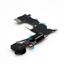 For iPhone 5S USB Charger Dock Charging Port Connector Headphone Jack Flex Cable , Free Shipping
