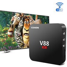 V88 Anadroid Tv Box 1GB Ram 8GB Rom Rockchip 3229 Quad Core Smart Media Player WiFi HDMI 2.0 4K H.265 DLNA Android 5.1 Tv Box