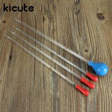 Kicute Modern Glass Transfer Scale Pipette With Rubber Cap Dropper 4 Size 1/2/5/10ML Transfer Pipette School Laboratory Supplies(China)