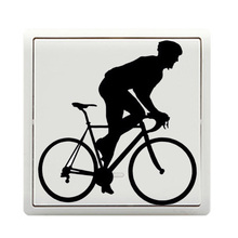 Motorcycle Funny Sport Personality Vinyl Light Switch Sticker Door Wall Decals 5WS0317