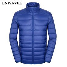 ENWAYEL Spring Autumn Thin 95% White Duck Down Jacket Men Casual Ultralight Male Feather Jackets Coat Ultra Light Lightweight