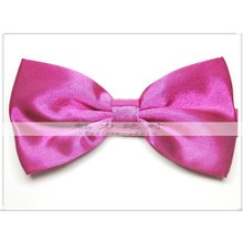 men's bowties bow tie knots neck ties cravat solid color ascot neckwear(China)