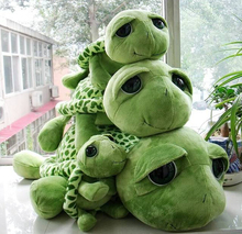 NICI plush toy stuffed doll cute lovely green papa turtle smiling funny big eye tortoise baby birthday lover christmas gift 1pc