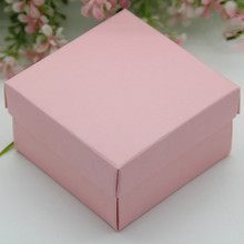 6*6*4cm 100pcs Creative Pink candy box wedding decorations/ Wedding Invitation Favors Birthday Holidays Gifts Packing