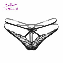 Buy New Sexy G-String Women Underwear Transparent Butterfly Lace Panties Thongs G Strings Low Waist Sexy Panties Underpants