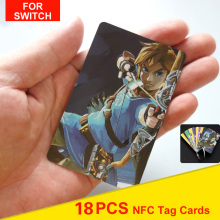 18Pcs Game Collection Tag Cards BOTW OOT SSB 20 heart Wolf Link For The Legend of Zelda Breath of the wild NS Switch