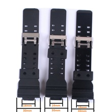 Newest Silicone Rubber Watchbands Strap Sport Wrist Men Black Silicone Women Military Sweatband Watch Straps Band For G-Shock