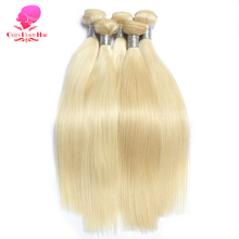 QUEEN BEAUTY HAIR 613 Platinum Honey Blonde Brazilian Hair Bundles Straight Remy Human Hair Weave 12inch To 26inch Free Shipping