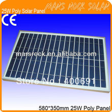25W 18V Poly Solar Panel with High Performance Output, Double, Nice Appearance, Long Lifecycle, 80% Power warranty within 25year