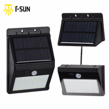 28 LEDs Outdoor Lighting Solar Light Motion Sensor with Separable Solar Panel Waterproof IP64 Street Light for Garden Security(China)