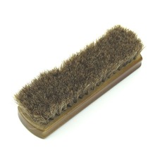 "New 1PC Shoe Polish Buffing Brush Wood Horse Hair Bristles Boot Care Clean Wax 7""x2""(China)"
