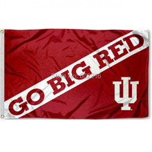 Indiana Hoosiers Go Big Red College Large Outdoor Flag 3ft x 5ft Football Hockey College USA Flag