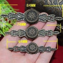 74mm Medium handle Long Alloy Drawer Jewelry box Antique bedroom furniture handles and knobs Wardrobe cupboard Wholesale(China)