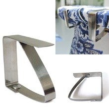 Useful Convenient Table Cover Cloth Clamp Stainless Steel Tablecloth Clip Clamp Holder For Party Wedding