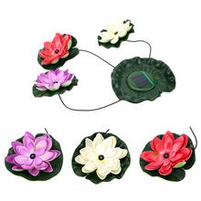 New Powered Lotus Flower Outdoor Solar Light Practical Garden Pool Floating Solar Garden Light for Pond Fountain Decoration(China)