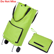 Do Not Miss Folding Shopping Bag Shopping Trolley Bag on Wheels Bags on Wheels Buy Vegetables Shopping Organizers Portable Bag(China)