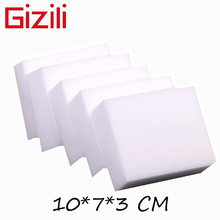 GIZILI 100 pcs/lot high quality Magic Sponge Eraser Melamine Cleaner for Kitchen Office Bathroom Cleaning 10x7x3cm(China)