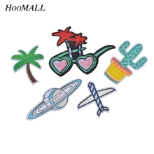 Hoomall 5PCs Patches For Clothing Iron On Sewing Applique Embroidered DIY Garment Accessories Clothes Bags Jacket Stickers