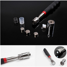 Mini Neodymium Imanes LED Flashlights  Pick Up Stick Telescopic Magnetic Tools for Picking Nuts Bolts --M25