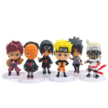 6pcs/lot PVC Naruto action figure set Uzumaki Kakashi Gaara 2017 New Naruto Figures Model Uzumaki Gaara  madara sasuke figuras