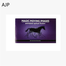AJP Movie Book 3D Paper Animated City Magic Moving Images Books Animated Optical Illusion  Magic Tricks Toy Children's Day Gift