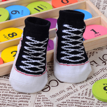 1 Pair  0-12Month Toddler Infant Newborn Baby Winter Warm Indoor Cotton Boots Sole Shoelace  New Shape Socks