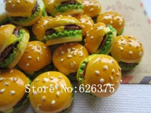 Rena!! Min.order $6 (mix order), Resin Kawaii Hamburger for Hair Bow Center, Phone Deco, DIY(17mm), Free Shipping