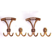 American countryside style zemak antique brass hooks bathroom dressing room clothes shop home hook(China)