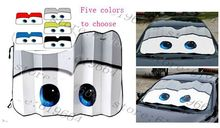 5 Colors car sunshade Cartoon Big Eyes Auto Lightning Front Car Windshield Sun Shade case for ford Chevrolet Cruze BMW