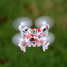 New Mini Helicopter E905B Flower Pattern 0.3MP Pocket Drone 2.4G 3.7V 4 CH 3D Roll Mini Toy RC Quadcopter with LED