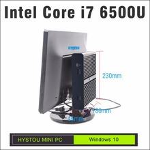 HYSTOU I7 Skylake Intel Mini PC Windows 10 Core i7 6500U Small Desktop computer TV Box Mini Computer Minipc DP Port HDMI sff pc