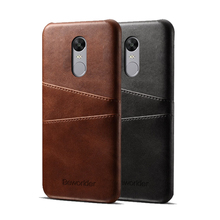 Beworlder For Xiaomi Redmi Note 4X Xiaomi Redmi Note 4 Global Version PU Leather Case Phone Back Cover Vintage Card Slot