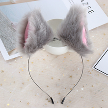 1Pc Girls Headress Hair Accessories Fashion Plush Hairband Fox Ears Headbands 12 Colors Women Girls Stocked(China)